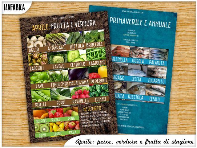 Aprile: frutta, verdura e pesce di stagione