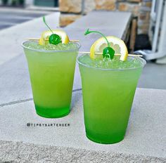 Get your villain on with our Green Goblin Cocktail! Our Green Goblin Cocktail is made with Midori, Peach Schnapps, Pineapple Juice, Vodka, and Rum!!