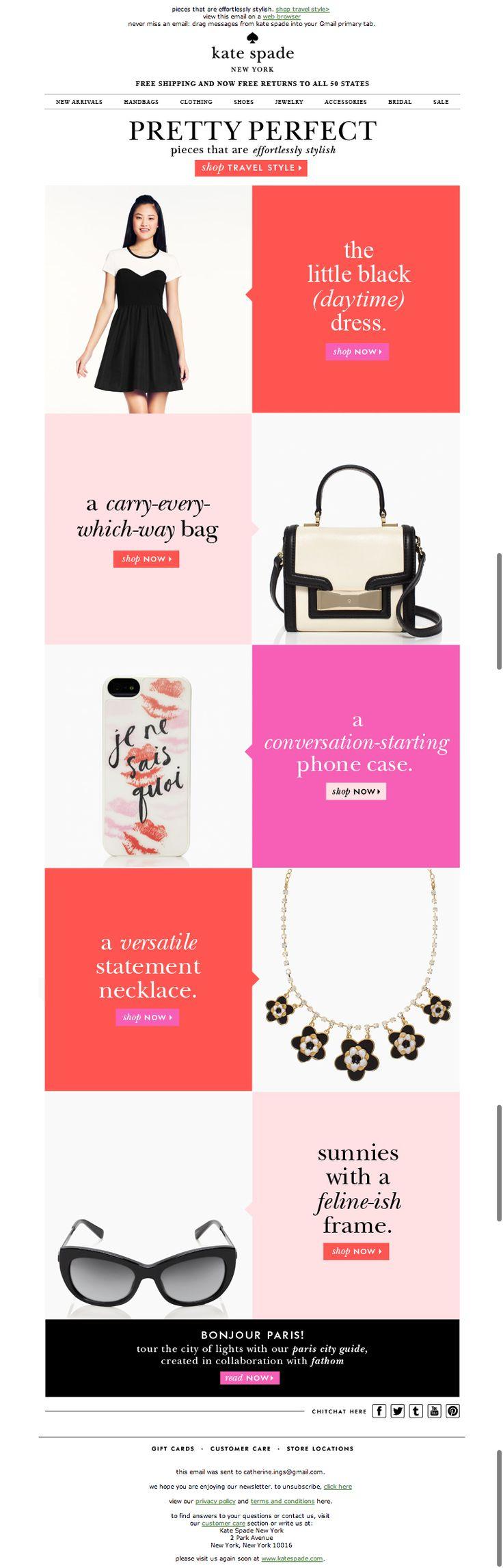 Kate Spade email design