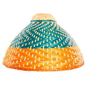 Pantalla para lámpara de techo Makiko azul/naranja