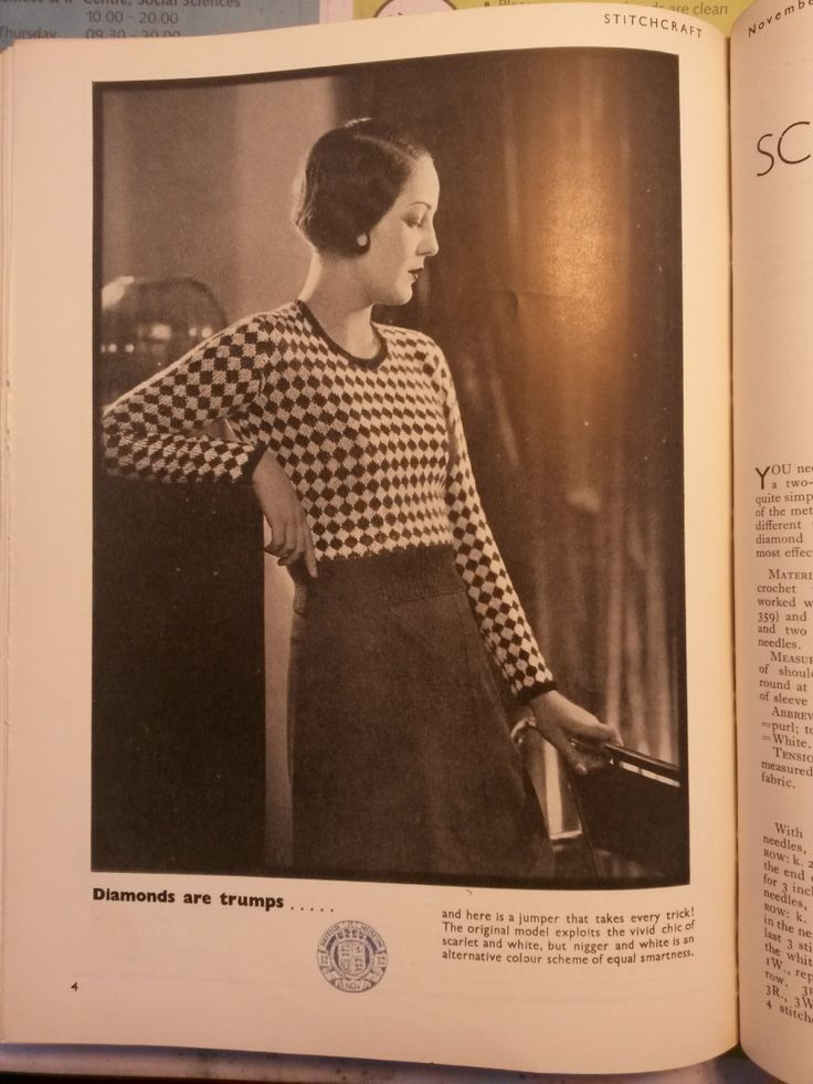 free vintage knitting pattern ladies jumper