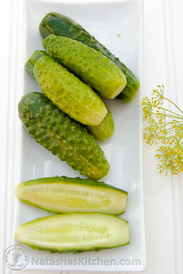 How to make Refrigerator Pickles.  We refer to these as Mалосольные Oгурцы (Low Sodium Dill Pickles). This is a recipe for quick dill pickles. It's ready after sitting overnight (unlike most recipes that take 6 or 7 days!)....