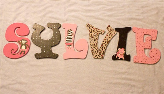 Custom Painted Wooden Letters by PaintNest on Etsy, $10.00