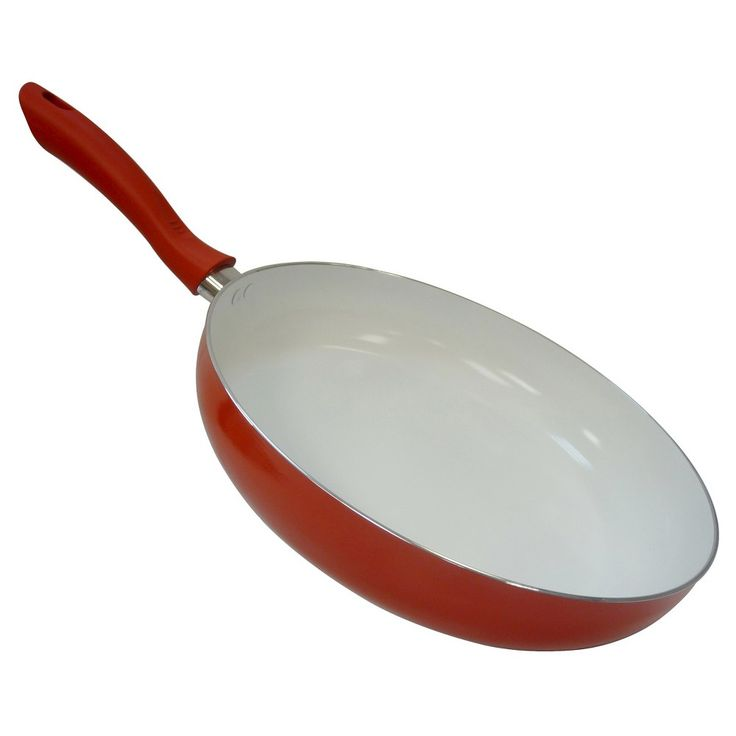 Imusa Multi Imusa Ceramic Saute Pan (Rop) - 11, Red/Orange