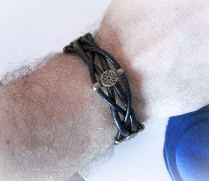 Bracciale+uomo+cuoio,+bracciale+pelle+di+BRAVE+men's+jewelry+su+DaWanda.com