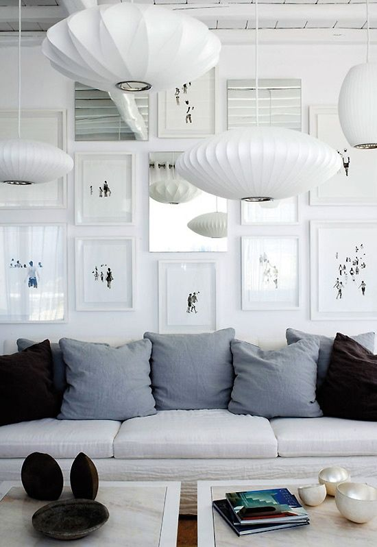 via becose | George Nelson Bubble Lamps | http://modernica.net/lighting/pendant/