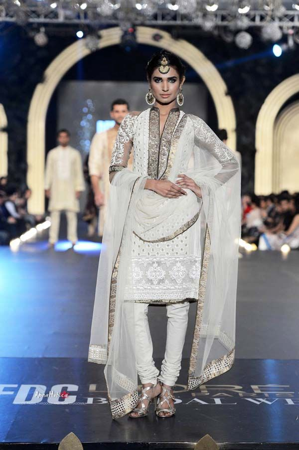 Asifa & Nabeel https://www.facebook.com/AsifaandNabeelOnlineStore Pakistan at PFDC L'Oreal Bridal Week (Oct) 2013