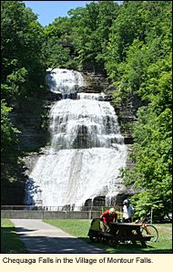 Chequaga Falls along the Catharine Valley Trail in the Village of Montour Falls in the Finger Lakes #FingerLakes.