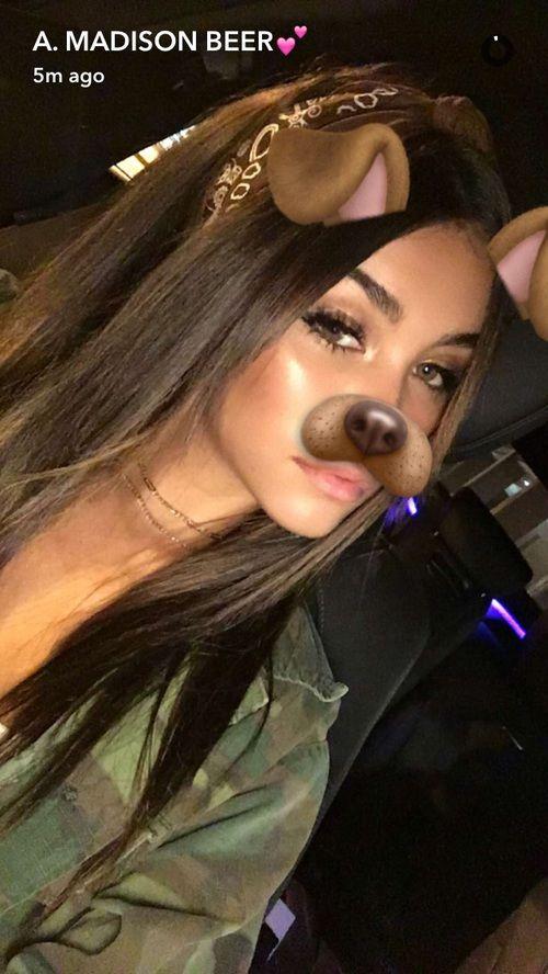 ♡ On Pinterest @ kitkatlovekesha ♡ ♡ Pin: Snapchat ~ Madison Beer Dog Filter ♡