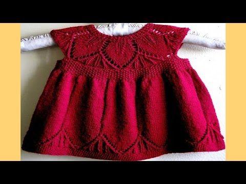 Vestido Para Bebe - Tejido en Dos Agujas (Paso a Paso) - YouTube