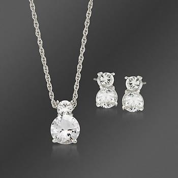 Swarovski Crystal Clear Brilliance Pendant And Stud Earring Set A Perfect Gift