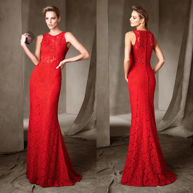 Chloe by Pronovias for $660 now available at Mia Bella. #miabellacouture #californiaglam #pronovias #chloe #red #reddress #lace #longdress #eveningown #elegant #stunning #breathtaking #beautiful #fashion #style #happy #like #love #followme