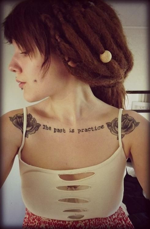 Ok, I am not a fan of chest tats, however something about this font and placement makes me reconsider.. :)