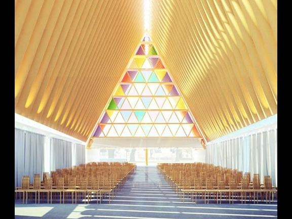 Shigeru Ban's Cardboard Cathedral Christchurch