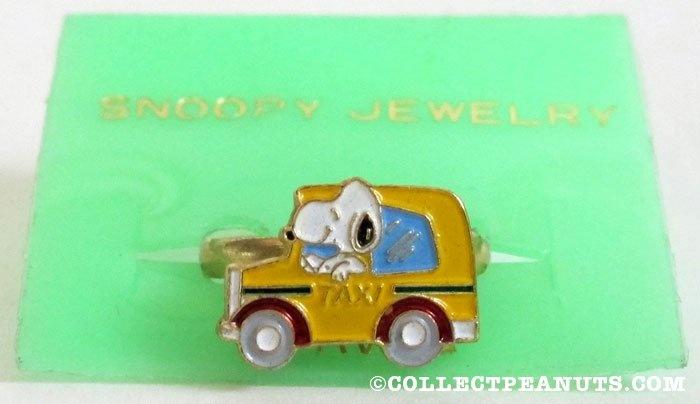 Snoopy tassista Anello