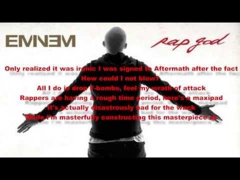 ▶ Eminem - Rap God Lyrics - YouTube