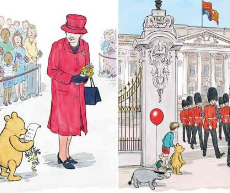 As a child the Queen was a huge fan of the Winnie-the-Pooh tales, so the latest story is a fitting birthday gift for the monarch.Winnie-the-Pooh has met the Queen for the first time - after the pair bumped into each other outside Buckingham Palace. the bear's latest adventure which has been released to celebrate both of their 90th birthdays.