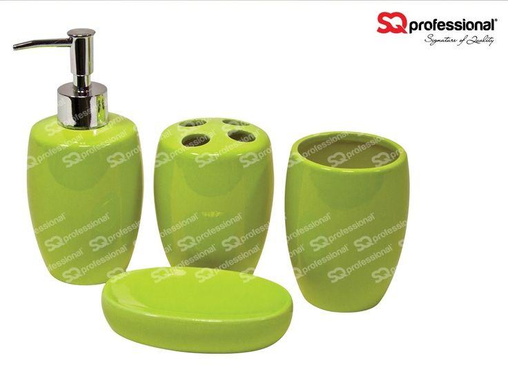 36 best images about couleur verte on pinterest for Accessoires de salle de bain vert anis
