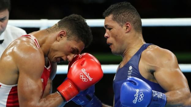 Joe Joyce (right) wins Britain's last Olympic medal of the Rio games, silver in the super-heavyweight boxing. 21st August 2016