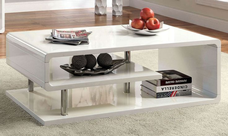 17 best ideas about white gloss coffee table on pinterest for Furniture of america inomata geometric high gloss coffee table