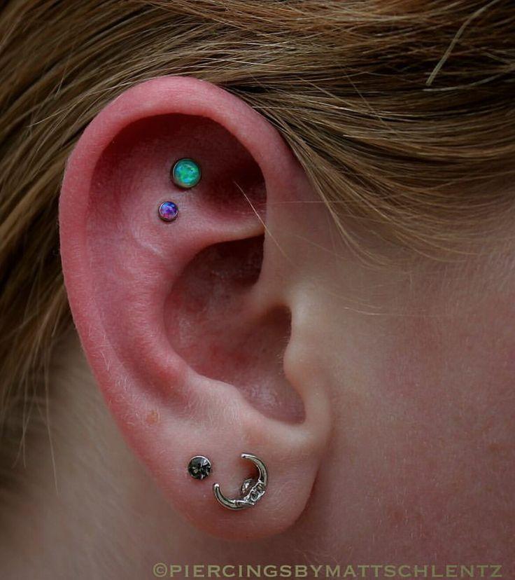 Double helix ear piercing