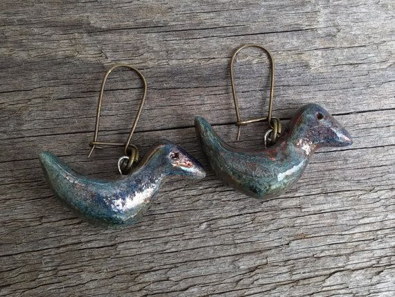 Ceramic earring components ceramic earring by BlueBirdyDesign