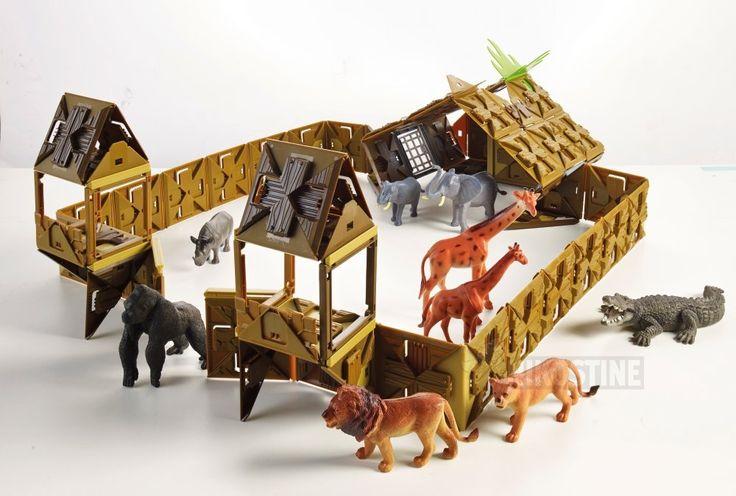 Her ser du en Fligg zoologisk have til alle de vilde dyr. Med 1000 brikker i hvert kasse Fligg er mulighederne mange, for hvad der skal bygges. Køb Fligg på Nikostine.dk #Fligg #Constructiontoys #Konstruktionslegetøj