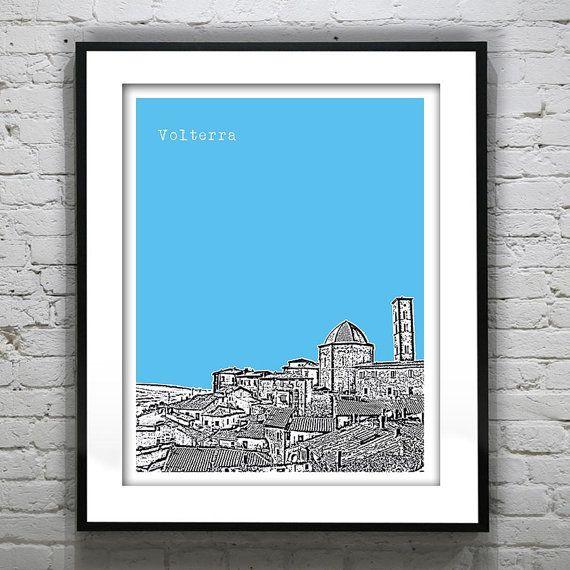 Volterra Italy City Skyline Poster Art Print by AnInspiredImage, $18.95