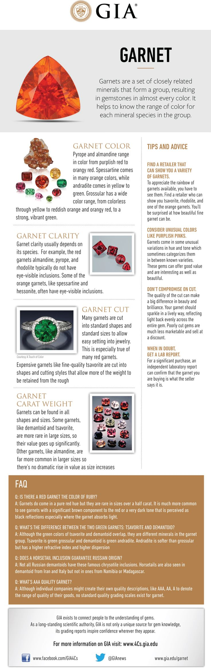Here's your buying guide for garnet - January's birthstone. GIA (010815)