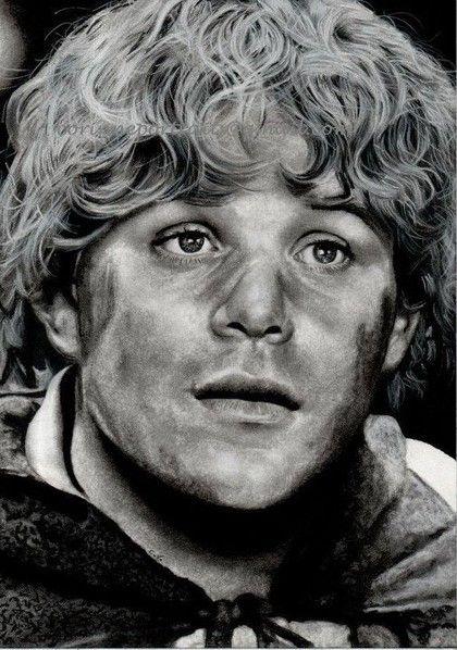 Pencil Artist Corinne's Portraits (French) | Sean ASTIN (Samsagace GAMEGIE/Samwise GAMGEE) by Corinne