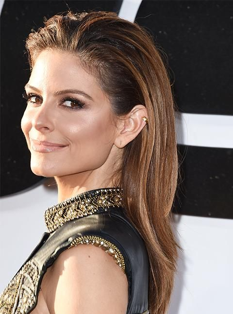 Learn how to make the most of a slicked back look like Maria Menounos.