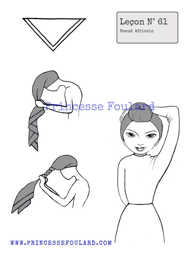 139 best noeuds de foulard images on pinterest scarf. Black Bedroom Furniture Sets. Home Design Ideas