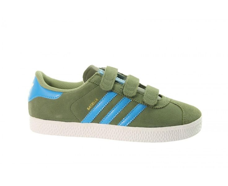 adidas originals Gazelle CF 2 D67215 Childrens Velcro Trainers