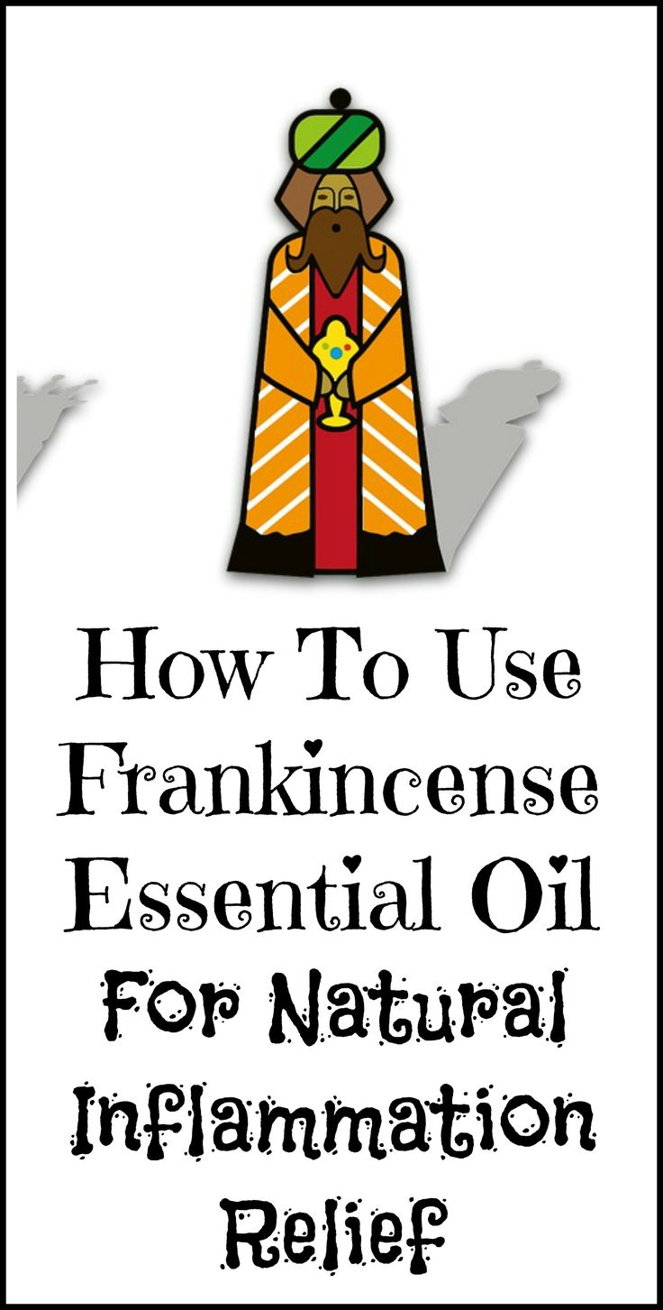 How to use frankincense essential oil to naturally relieve pain and inflammation.