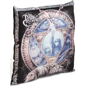 Dark Crystal Plush Pillow  Trial by PILLOW!  Like a beautiful movie poster come to life in huggable, pillow form.  Show the world how much you love fashion and puppets.