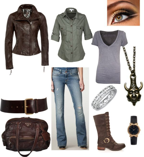 """If Dean Winchester was a woman..."" by knichols02 ❤ liked on Polyvore"