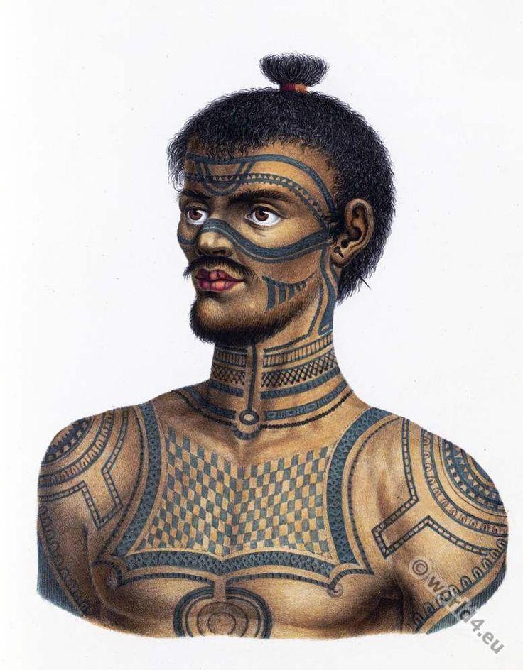 Man from Nuku Hiva, Marquesas Islands.