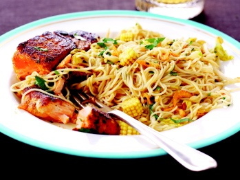 Seared Salmon with Singapore Noodles - Shape Magazine (you can make ...