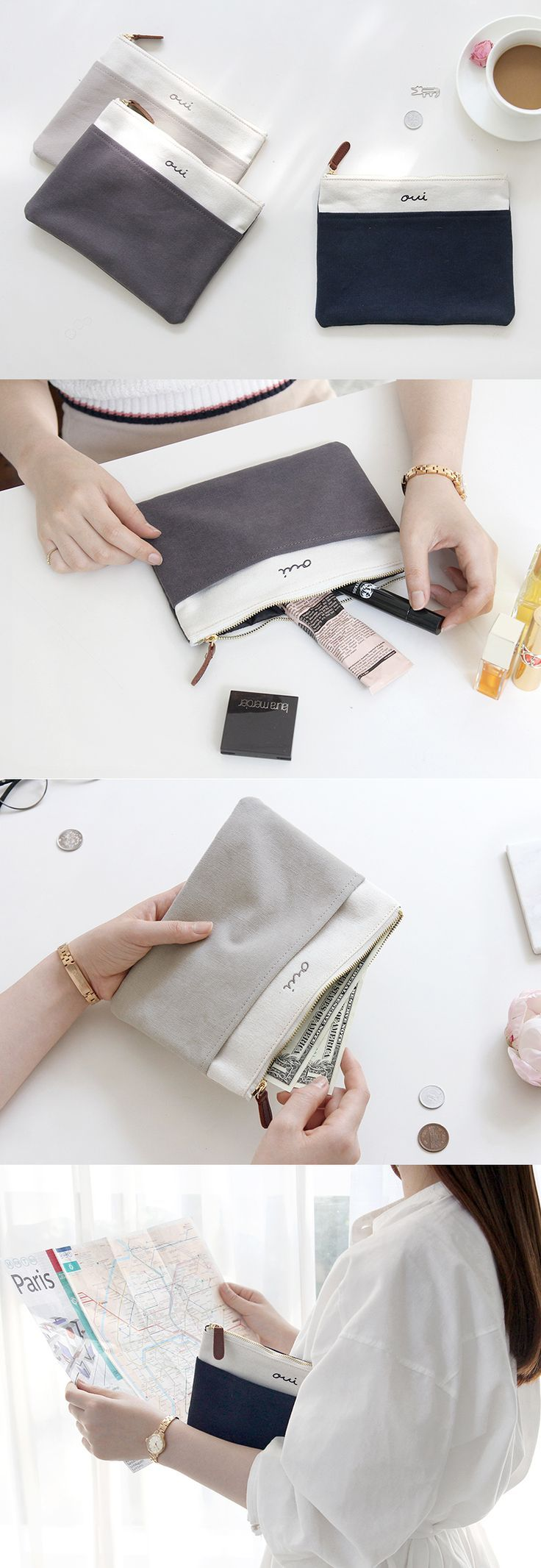 The modern appearance and the space this pouch provides makes this Oui Pocket Pouch a perfect pouch to carry all of your daily essentials and travel items as well! Carry this versatile and well-made pouch everywhere you go!