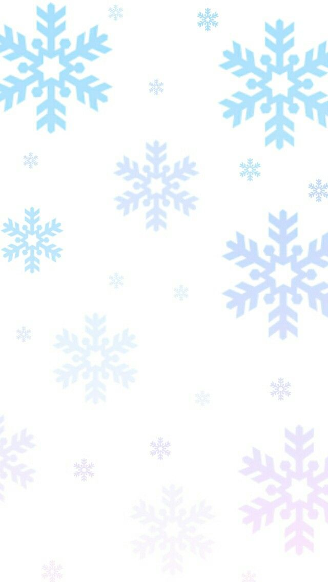 IPhone wallpaper background snowflake ombre blue and pink