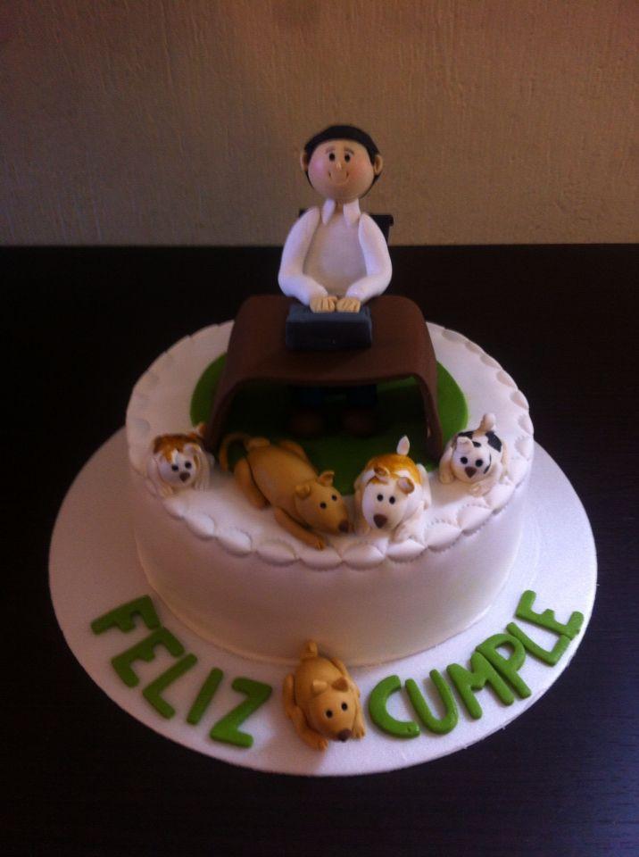 Puppy lovers birthday Cake