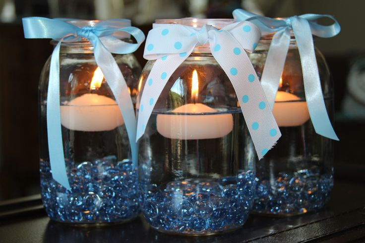 17 best ideas about boy baptism centerpieces on pinterest for Mesa cristal heaven