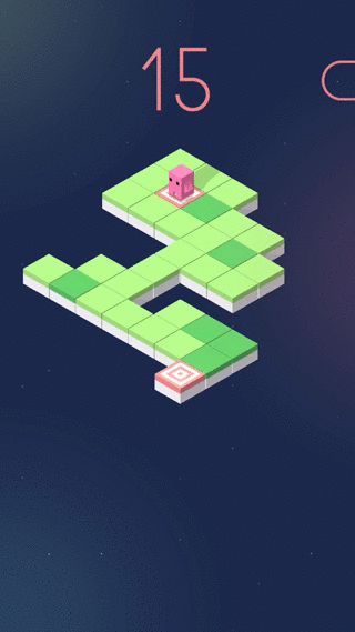 Ichi-Ni: A think-and-jump puzzle game for iPhone. Available here: http://ichinigame.com.