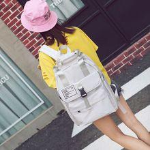 Hong Kong Style School Bag Korean Harajuku Ulzzang Cute Girl Student Backpack Preppy Style High School Student Canvas Backpack