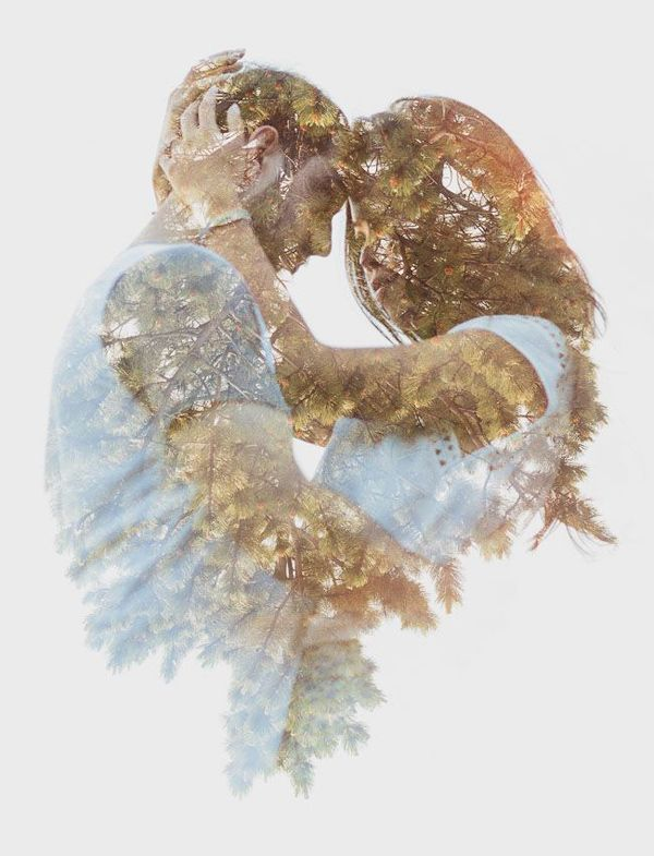 Beautiful double exposure photo. Engagement Shoot Inspiration: 15 Couple Poses You've Just Got To Try!