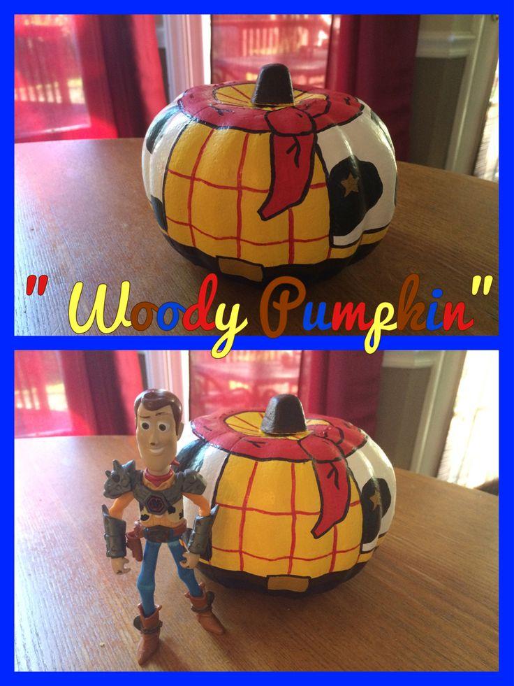 """""""Woody Pumpkin"""" / Toy Story Pumpkin / Dollar Store Pumpkin Makeover Craft"""