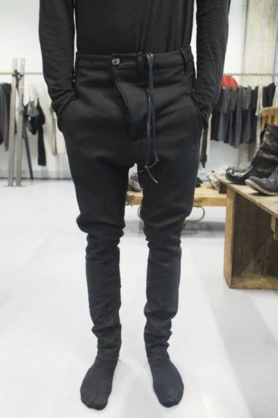 boris bidjan saberi   macabre   dark fashion   goth   obscure   high fashion   black pants