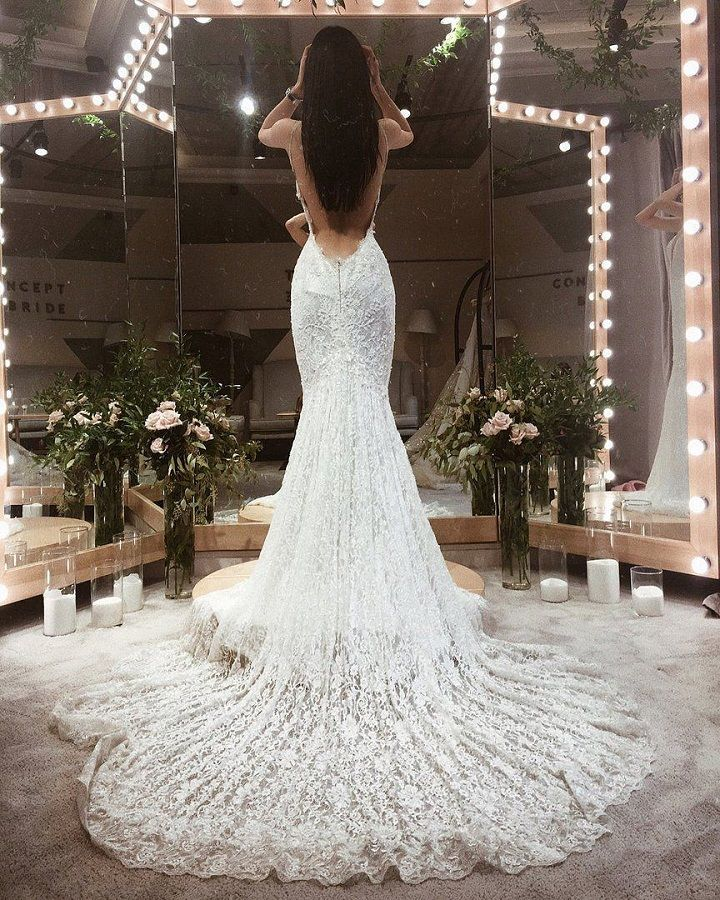 Gorgeous Wedding Dress By Galia Lahav Lace With Train Open Very Low Back
