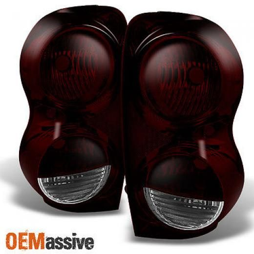 Oemassive 04-09 Dodgedurango Suv Dark Red Rear Tail Lights Brake Lamps Replacement Pair Ch2818101,ch2819101,2004,2005,2006,2007,2008,2009 5133169ai 5133168ai_04 05 06 07 08 09 Ch2818101,ch2819101 Left Right Yes Lens Unique High Quality And