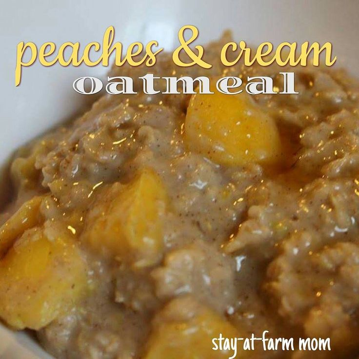 Peaches and Cream Oatmeal Delicious, warm filling healthy breakfast. 21 day fix approved. Dairy and soy free.